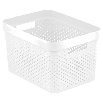 Room Essentials™ Resin Weave Rectangular Storage Bin - White