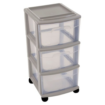 3-Drawer Medium Storage Cart - Gray - Room Essentials™
