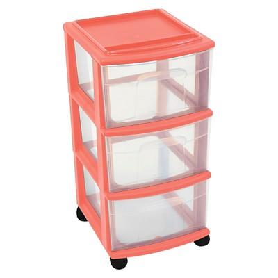 3-Drawer Medium Storage Cart - Melon - Room Essentials™
