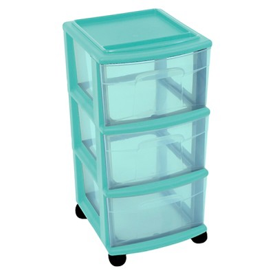 3-Drawer Medium Storage Cart - Blue - Room Essentials™