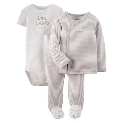 Just One You™ Made By Carter's® Newborn 3-Piece Footie Set - Gray 3 M