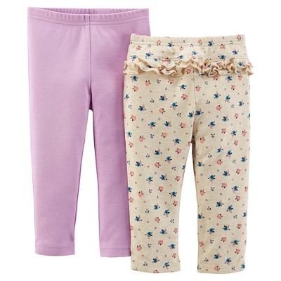 Just One You™ Made by Carter's® Baby Girls' 2pk Trouser Pant - Floral/Purple