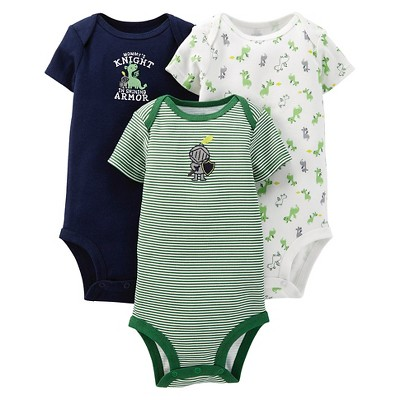 Just One You™ Made By Carter's® Newborn Boys' 3-Pack Bodysuit Set - Blue