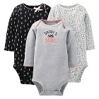 Just One You™ Made By Carter's® Newborn Girls' 3-Pack Bodysuit Set - Gray/Violet