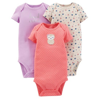 Just One You™ Made By Carter's® Newborn Girls' 3-Pack Bodysuit Set - Pink 3 M