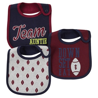 Just One You™ Made By Carter's® Newborn Boys 3-Pack Quote Bib Set - Berry Maroon