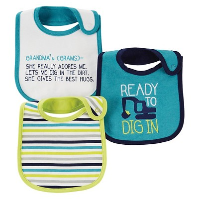 Just One You™ Made By Carter's® Newborn Boys 3-Pack Quote Bib Set - Blue