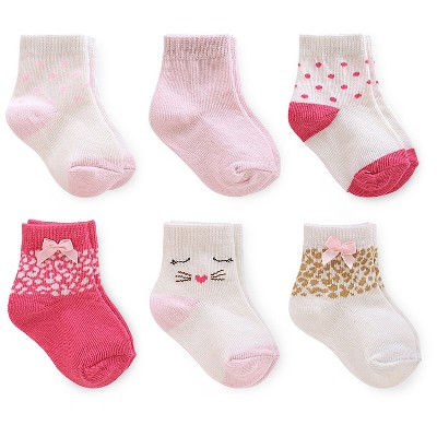 Just One You™ Made By Carter's® Newborn Girls' 6-Pack Polka Dots Sock - Multi-colored 3-12 M