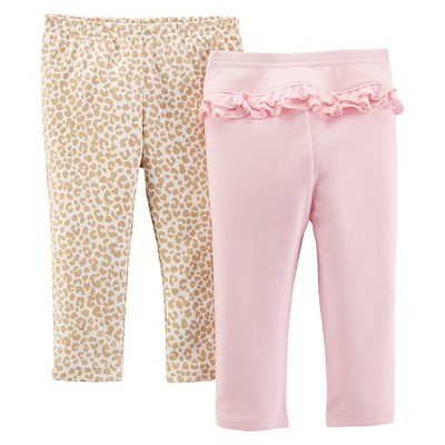Just One You™ Made By Carter's® Newborn Girls' 2-Pack Trouser Pant - Pink NB