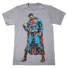 Men's S Superman Figure T-Shirt Gray
