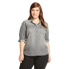 Women's Plus Size Favorite Shirt Olive Wash - Merona™