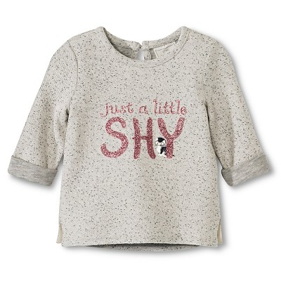 Toddler Girls' T- Shirt - Light Grey Heather 12 M