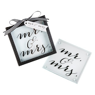 Kate Aspen Classic Mr. and Mrs. Coasters - Set of 12