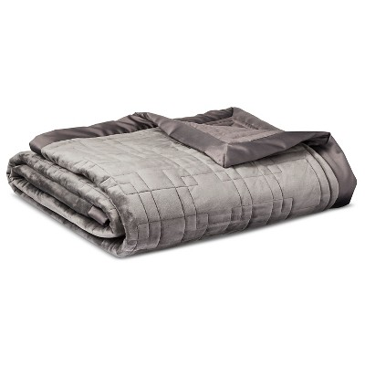 Fieldcrest® Luxury Blanket - Gray (Queen)