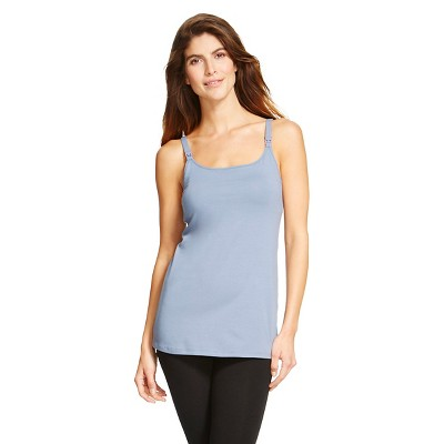 Women's Nursing Cotton Cami Rainfall Blue S - Gilligan & O'Malley®