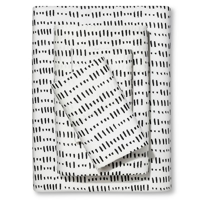 Sheet Set Microdash (Queen) Black & White - Nate Berkus™