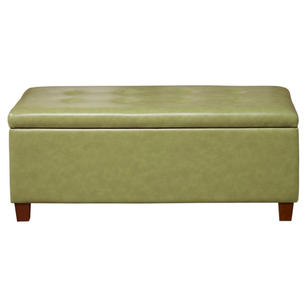 Handy Living Ott401 Aaa68 Microfiber Hinged Storage Bench Ottoman In Dark Moss Find It At