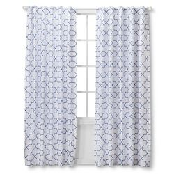 Chevron Curtain Panel Blue 42 X95 Target