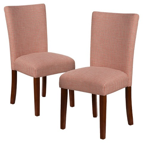Homepop Parsons Pattern Dining Chair Set of 2 Tar