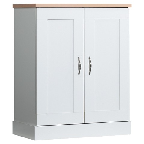 Akadahome Kitchen Base 3 Shelf Pantry Cabinet Tar