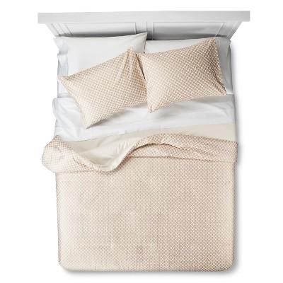 Mini Floral Comforter Set (Full/Queen) Cream 3pc - Threshold™