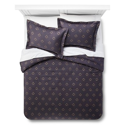 Dotted Triangle Comforter Set (King) Blue 3pc - Nate Berkus™