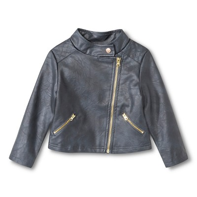 Female Moto Jackets Genuine Kids 12  MONTHS Turbine Gray