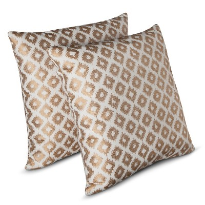 Decorative Pillow Set Threshold Yellow Silver Gray Shadow