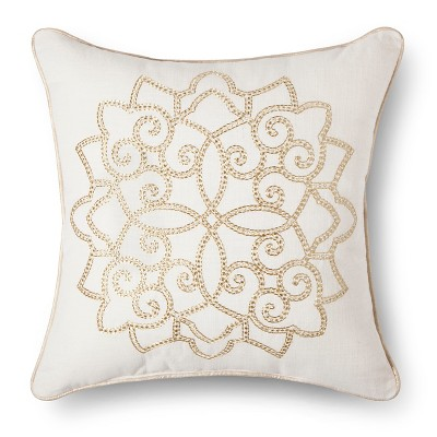 Decorative Pillow Threshold Gold Bold Gold Buff Beige
