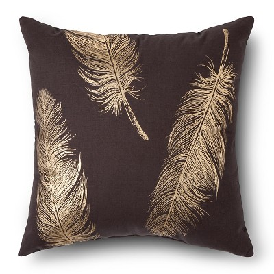 Decorative Pillow Threshold Grey Dark Gray Gold
