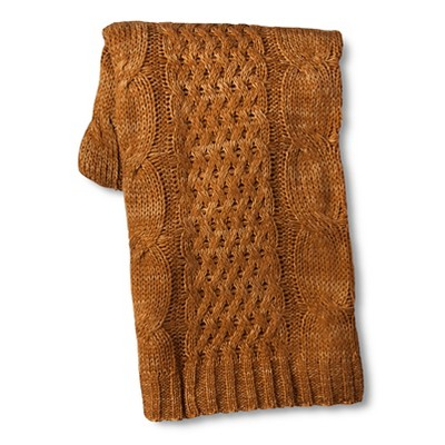 Threshold™ Cable Knit Throw Brown