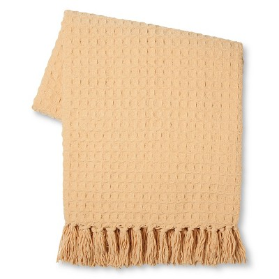 Threshold™ Basketweave Chenille Throw Gold