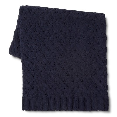 Threshold Chunky Chenille Throw Navy