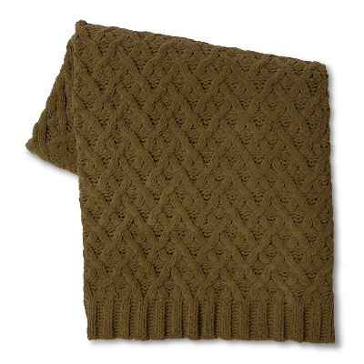 Threshold™ Chunky Chenille Throw - Olive Green (50x60 inches)