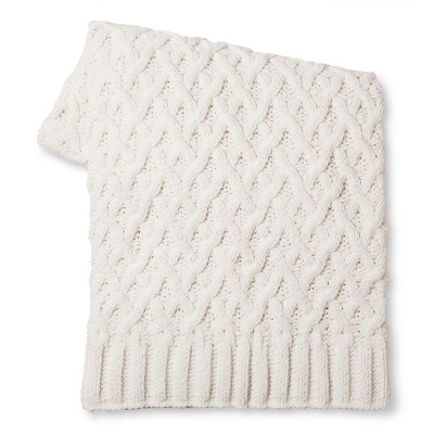 Threshold™ Chunky Chenille Throw - Cream (50x60 inches)