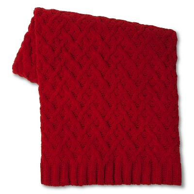 Threshold™ Chunky Chenille Throw - Red (50x60 inches)
