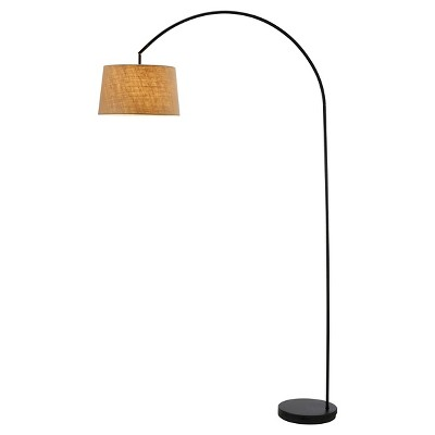 Adesso Goliath Arc Lamp - Black