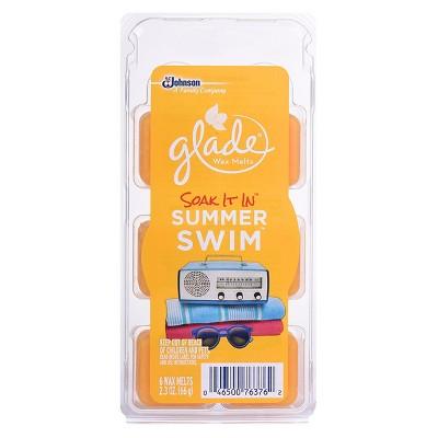 Glade Wax Melts Soak It In Summer Swim 2.3OZ/6CT