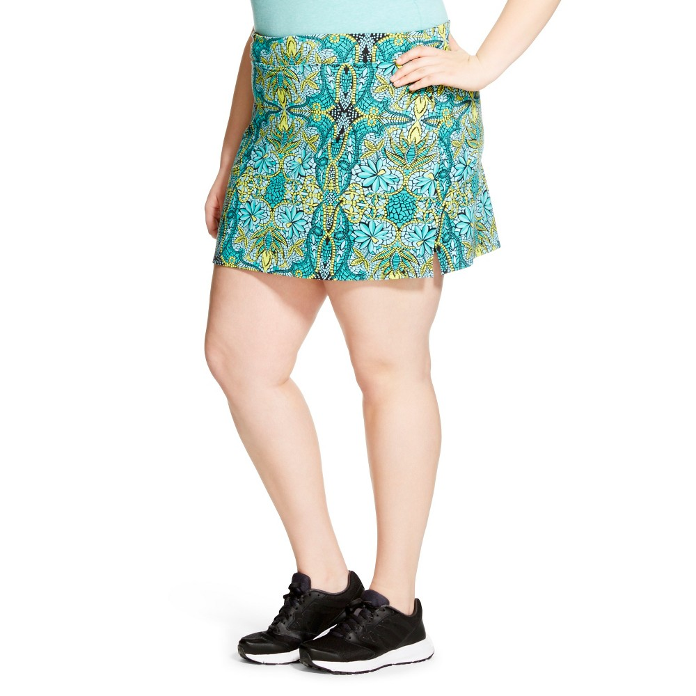 Plus Size Dafne Skort Rainforest - Tulah