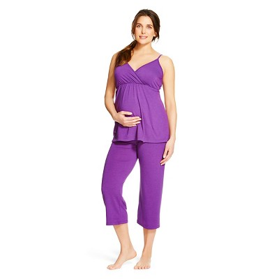Eve Alexander Women's Maternity PJ Set XL Purple