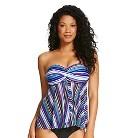 Women's Flyaway Tankini - Blue Stripe - XL - Merona™