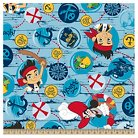 Disney Jake Treasure Quest Bubbles Fleece Fabric