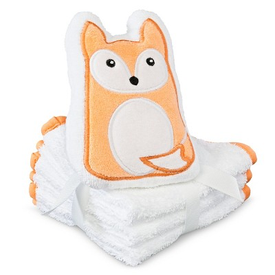 Newborn Washcloth Set - Orange OSFM