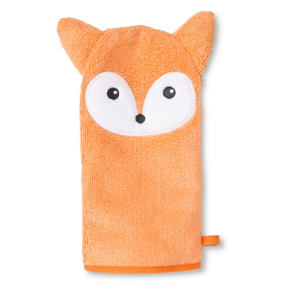 Newborn Fox Wash Mitt - Orange Circo, Peach Sherbet