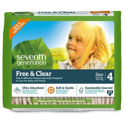 Seventh Generation 7TH GEN      DIAPERS SZ4 27CT