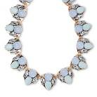 "Women's Natasha Accessories Imitation Gold Necklace  Stones Light - Blue/Mint (6.5"")"