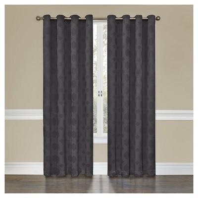 Eclipse Tatum Curtain Panel - Gray (52 x95 )