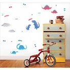Fun4Walls Dino Wall Stickers Set of 2 - Blue/Red