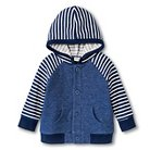 New Born Boys' Hooded Button-Up - Nightime Blue