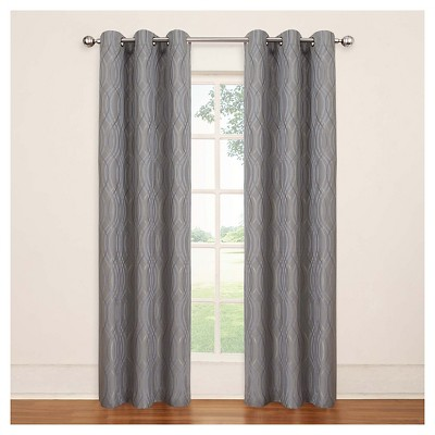 Curtain Panels Eclipse Grey Wave